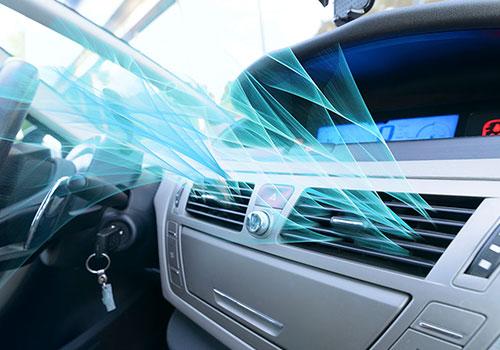 Airco in de auto met frisse lucht